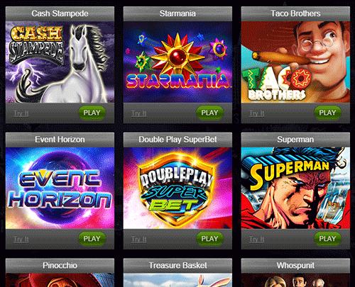 Casino Heroes kasinopelit