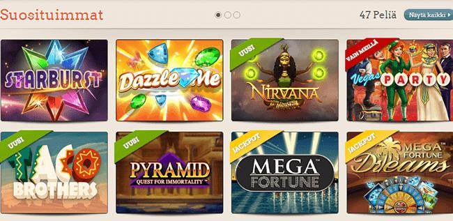 Leo Vegas kasinopelit