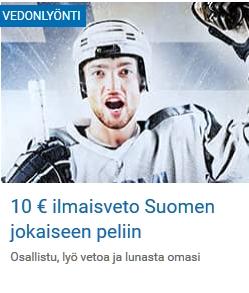 Nordicbet 10 euron ilmaisveto