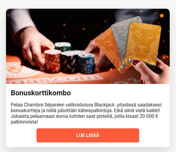 LeoVegas_Bonuskorttikombo