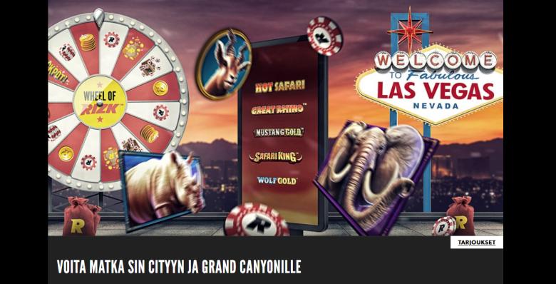 Rizk VIP-matka Las Vegasiin ja Grand Canyonille
