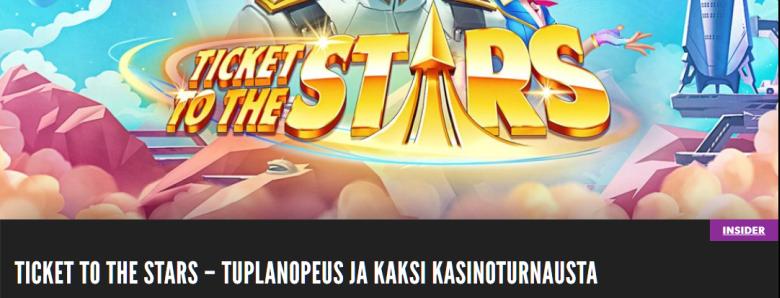 Rizk kasino Quickspinin Ticket to the Stars