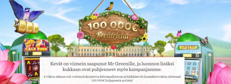 Mr Greenin 100 000 euron arvoinen kevätrieha