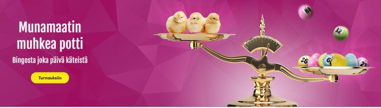 Casinohuoneen pääsiäismäinen munamaatti