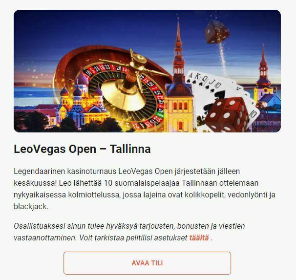 LeoVegas - Tallinnan reissu