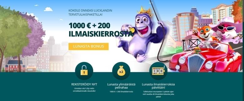 Luck Landin tervetuloetu huhtikuu 2019