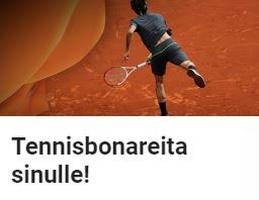 LeoVegas jakaa tennisbonareita