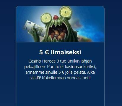Casino Heroes - 5 euroa uusille