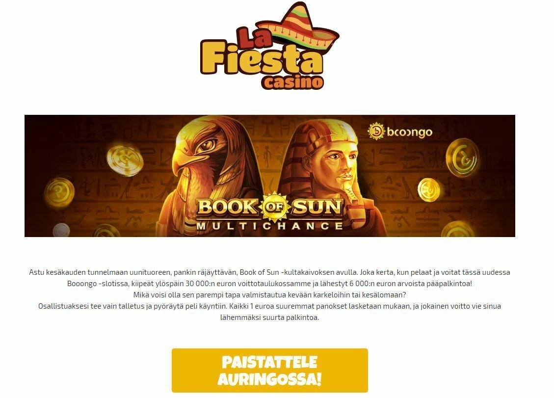 La Fiesta Casino - 30 000 euron voittotaulukko