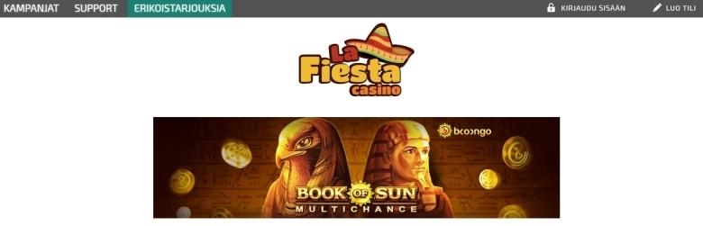 La Fiesta Casino ja 30 000 euron voittotaulukko