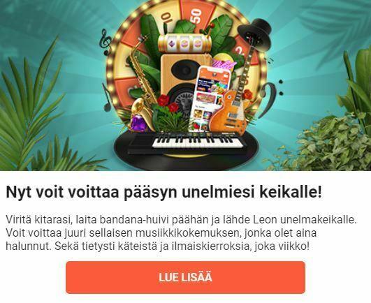 LeoVegas - Voita liput musiikkitapahtumaan