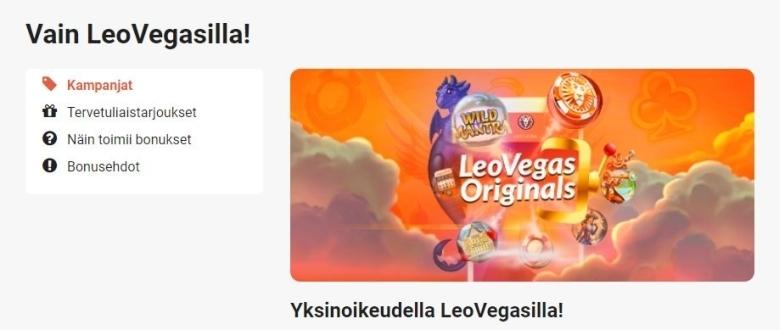 LeoVegas ja 45 000 euron palkinnot
