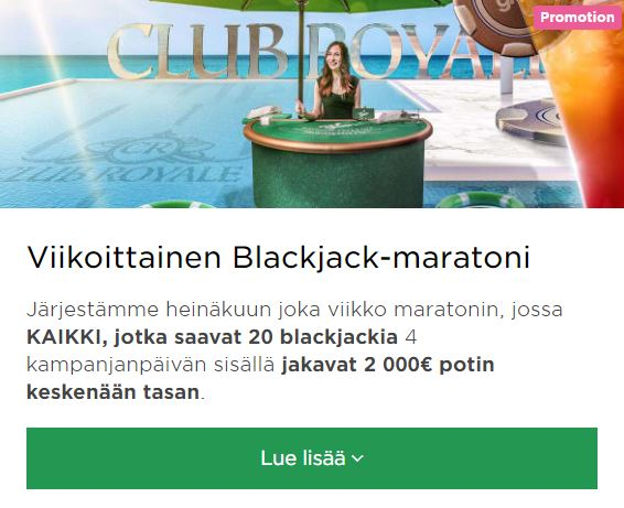Mr Green ja Blackjack -maratoni