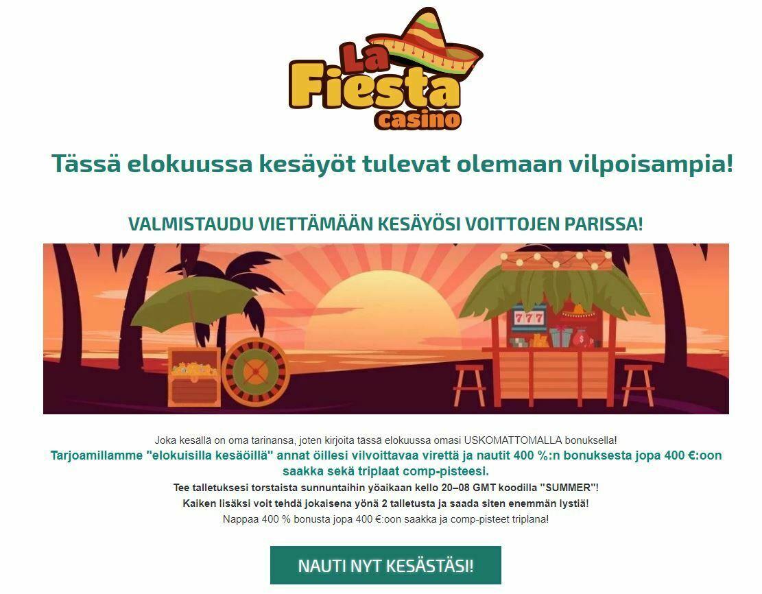 La Fiesta Casinon elokuiset yöt