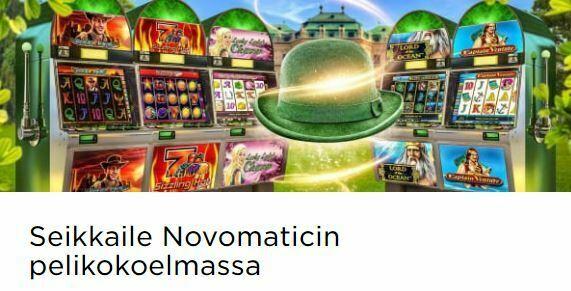 Mr Green ja Novomaticin pelikokoelma