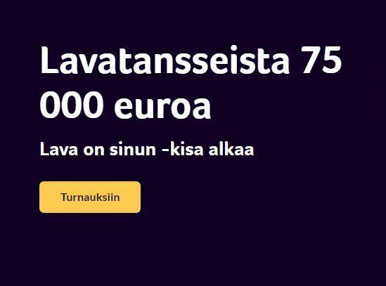 Kolikkopelit - 75 000 euron lavatanssit