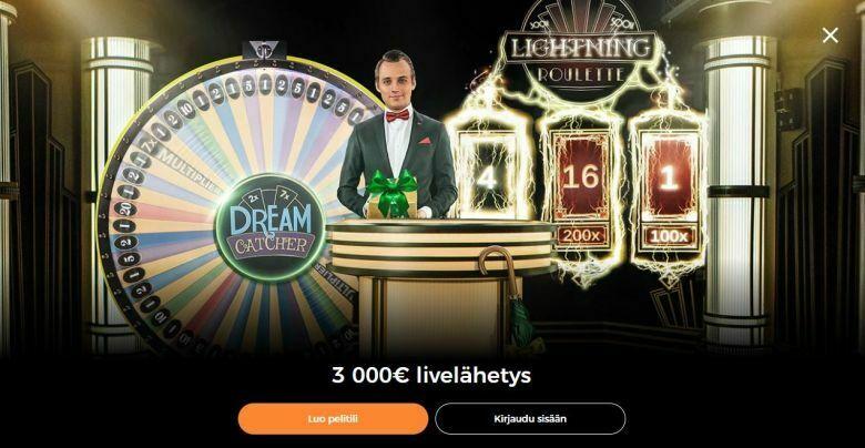 Mr Green ja 3000 euron livelähetys