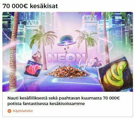 70 000 euron kesäkisa - Mr Green